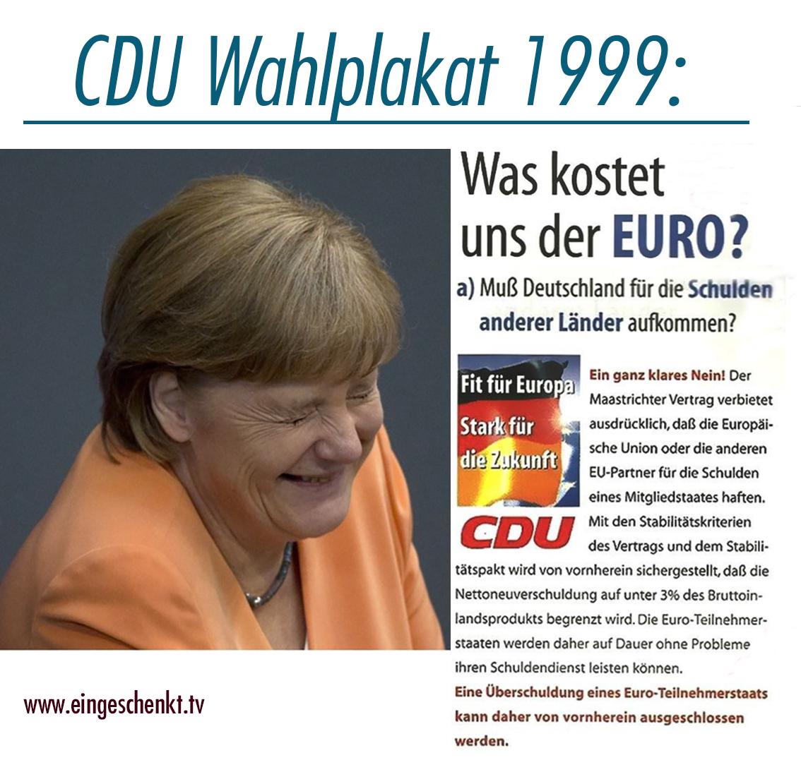CDU Wahlplakat von 1999 | Angela Merkel