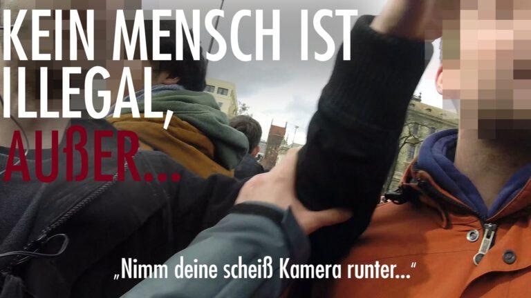 Kein Mensch ist illegal – außer…. (Zwischenfall auf der #AntiSIKO in #München)