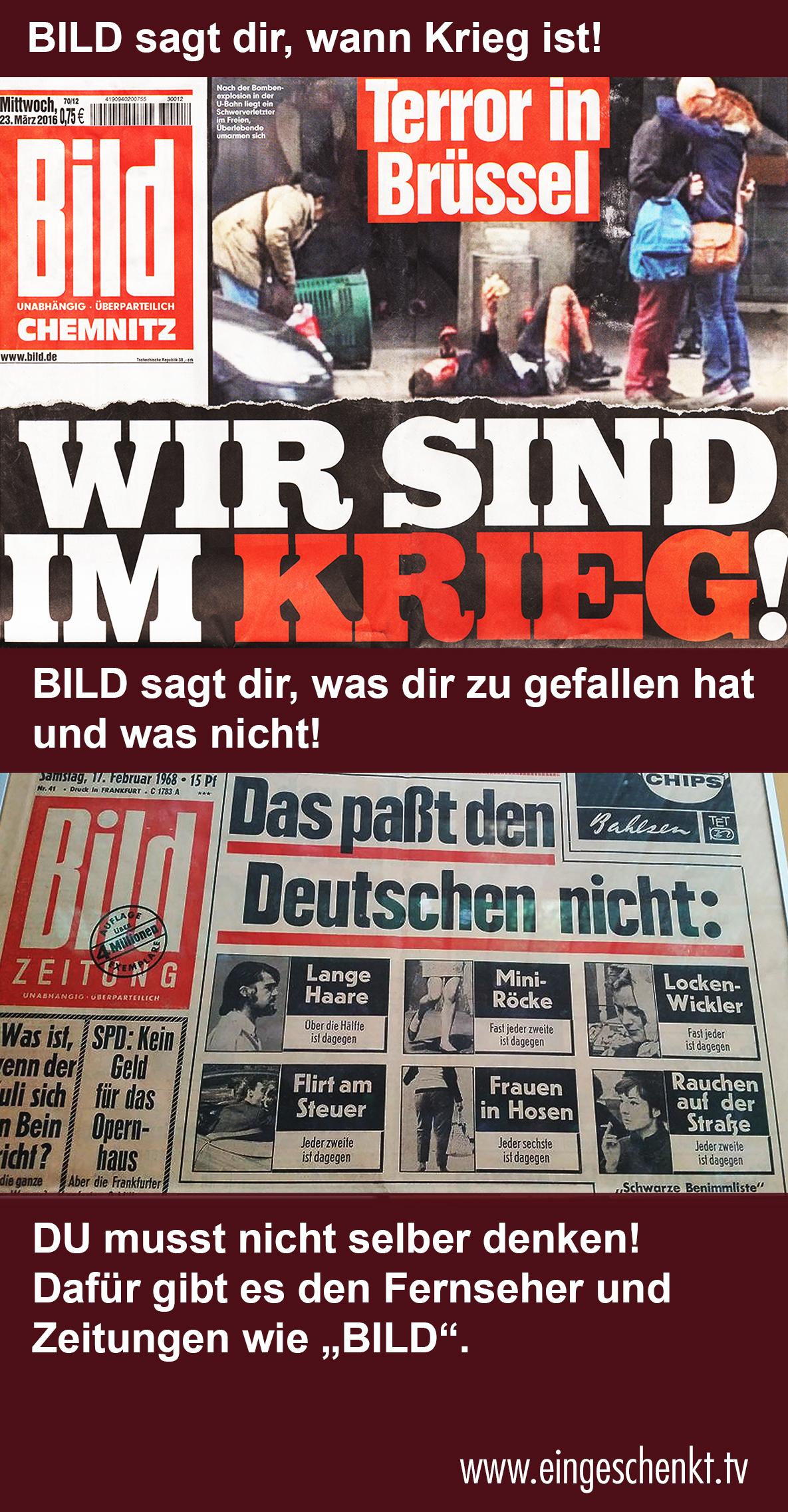 """Bild Zeitung - """"Wir sind im Krieg"""""""