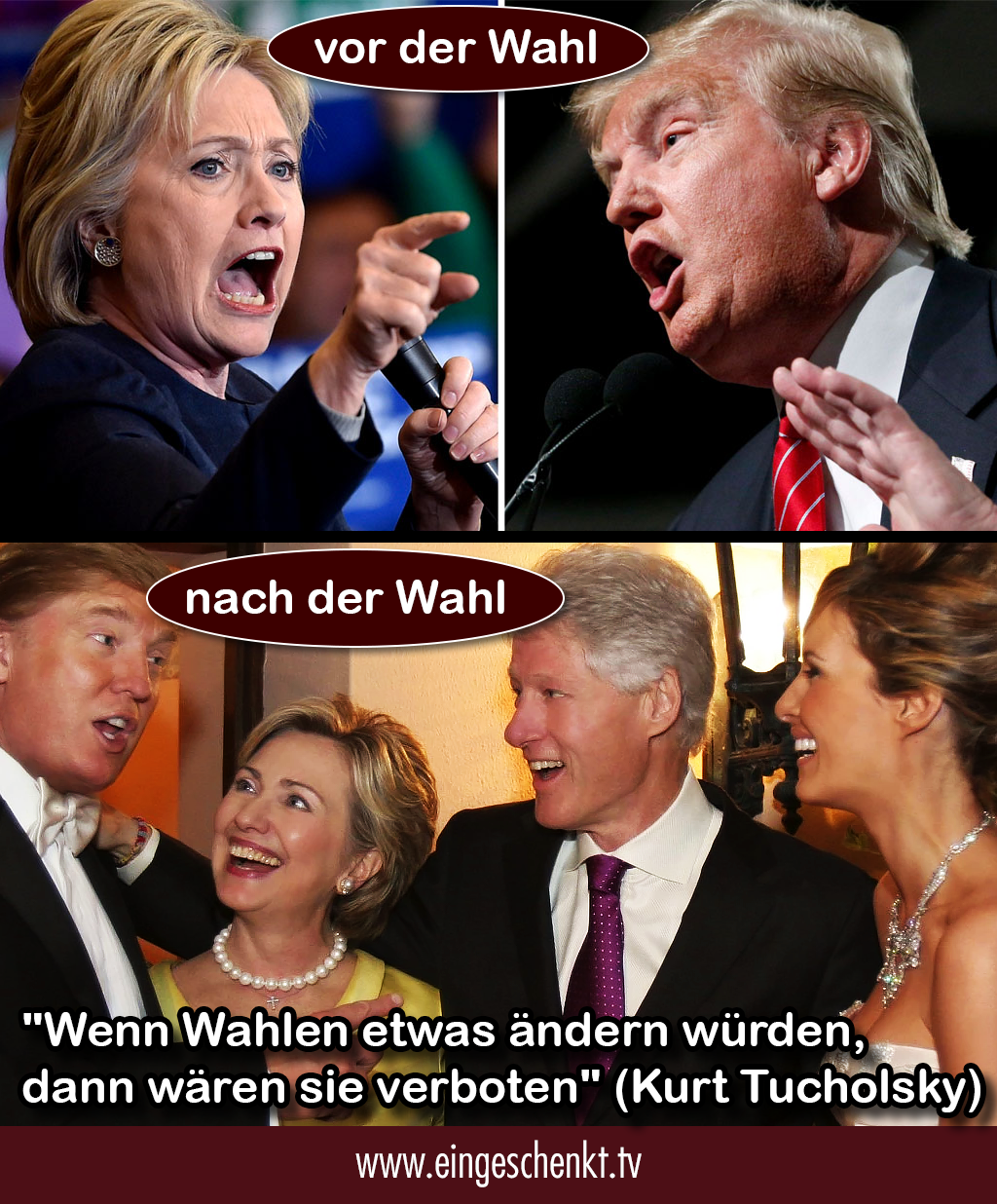Hillary Clinton und Donald Drump, Wahlkamp USA