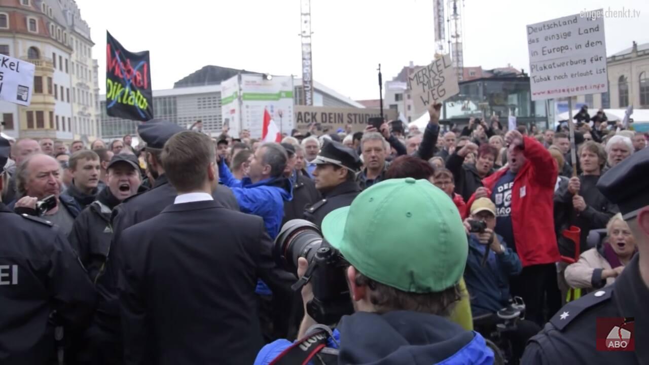 Tag der Deutschen Einheit - Proteste in Dresden (03.10.2016)