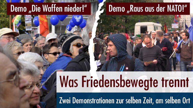 Zwei Demos am selben Ort zur selben Zeit – Was Friedensbewegte trennt