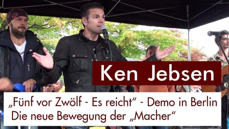 """""""Fünf vor Zwölf – Es reicht"""" – Demo. Ken Jebsen vor dem Kanzleramt am 01.10.2016"""