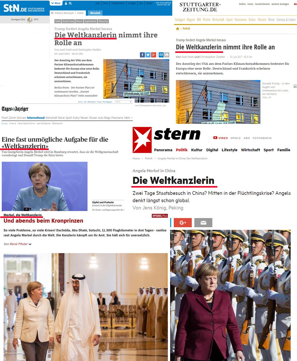 Angela Merkel ist die Weltkanzlerin