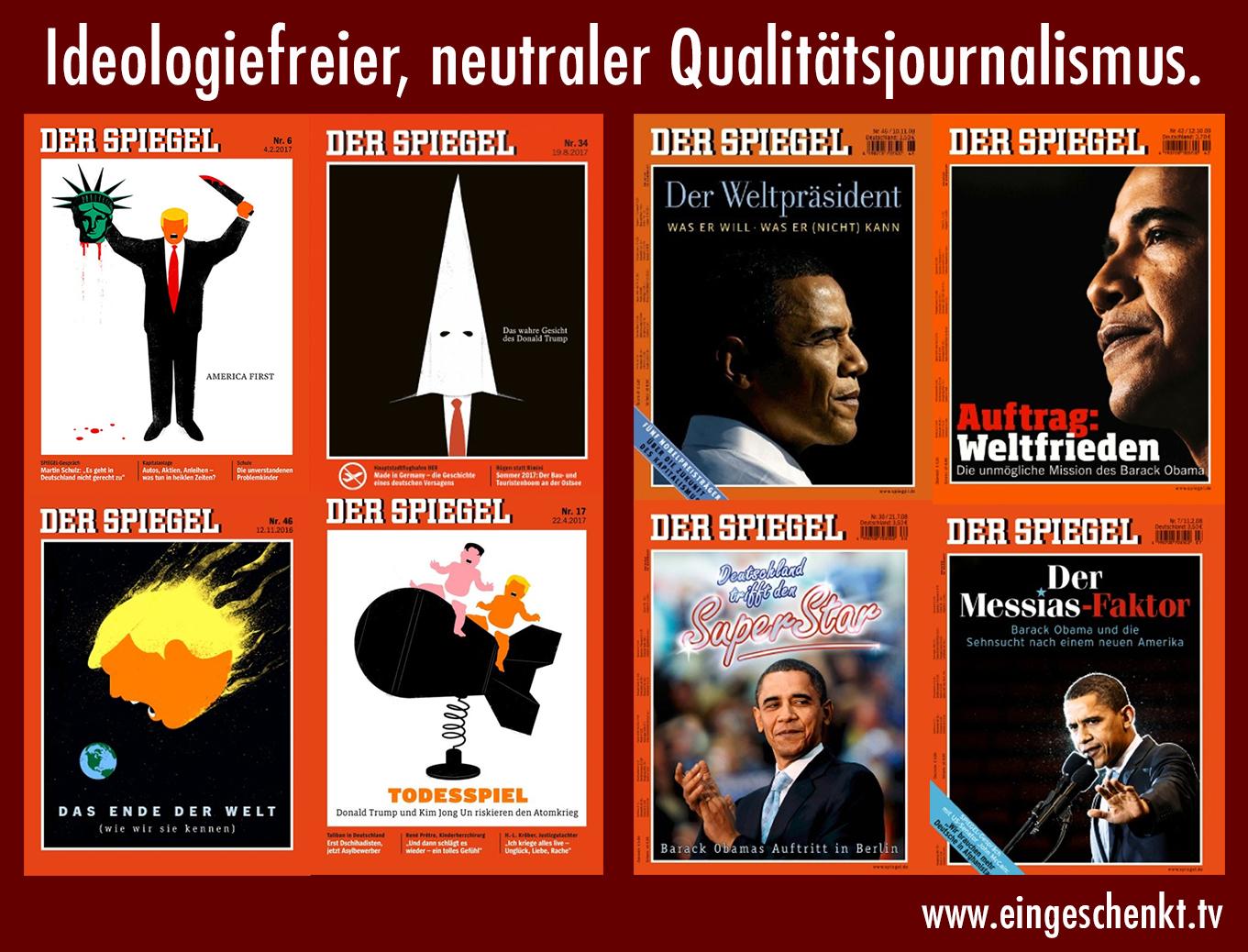 Ideologiefreier, neutraler Qualitätsjournalismus...