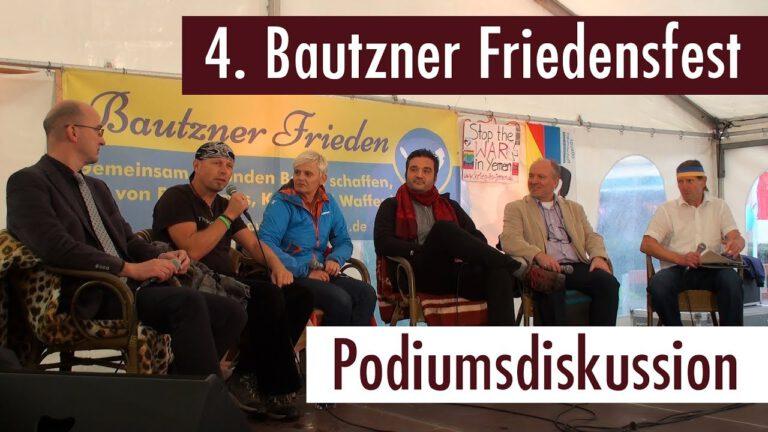 4. Bautzner Friedensfest  – Die Podiumsdiskussion (01.09.2017)