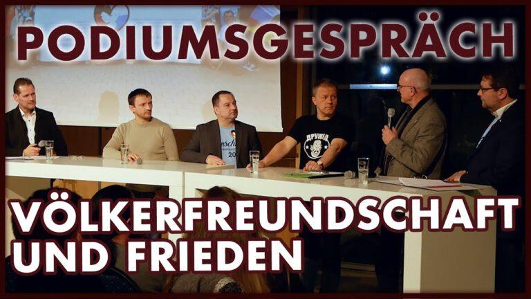 Völkerfreundschaft und Frieden – Podiumsgespräch in Bautzen (05.04.2018)