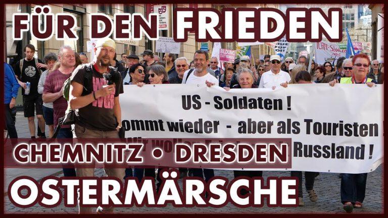 Gemeinsam für den Frieden: Ostermarsch 2019 Chemnitz und Dresden