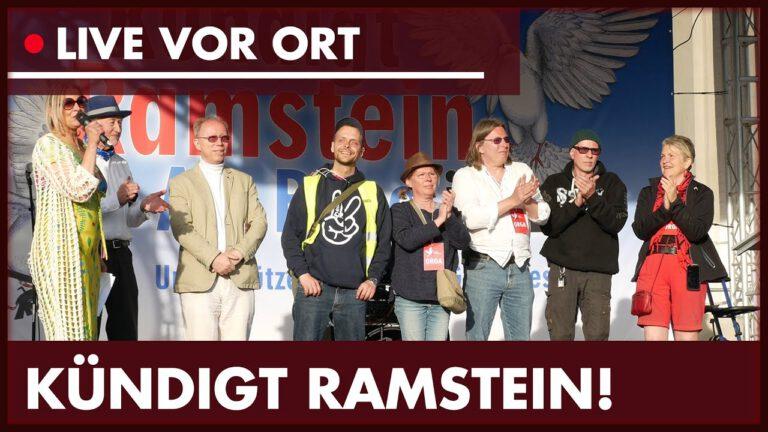 Demo: Kündigt Ramstein Air Base Jetzt!