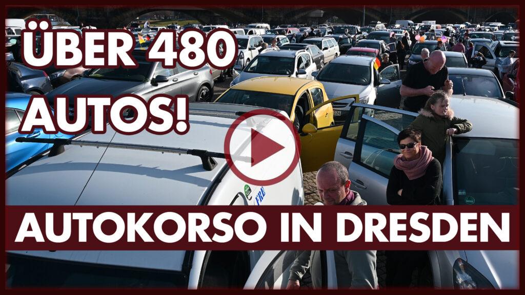 Autokorso in Dresden gegen Corona-Maßnahmen